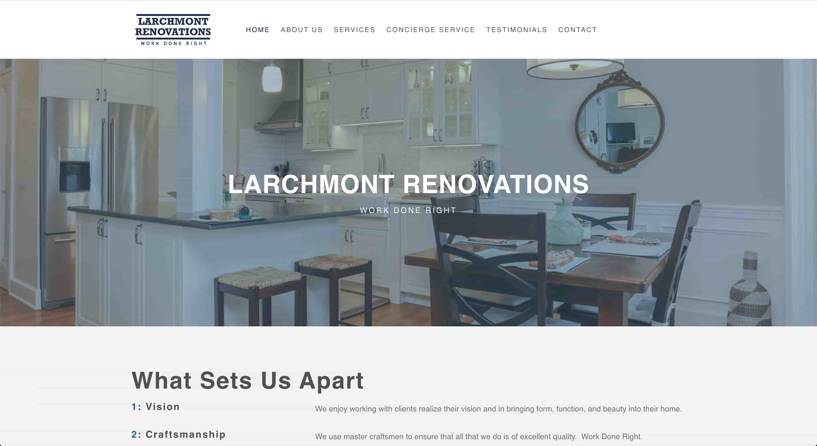 Larchmont Renovations Homepage
