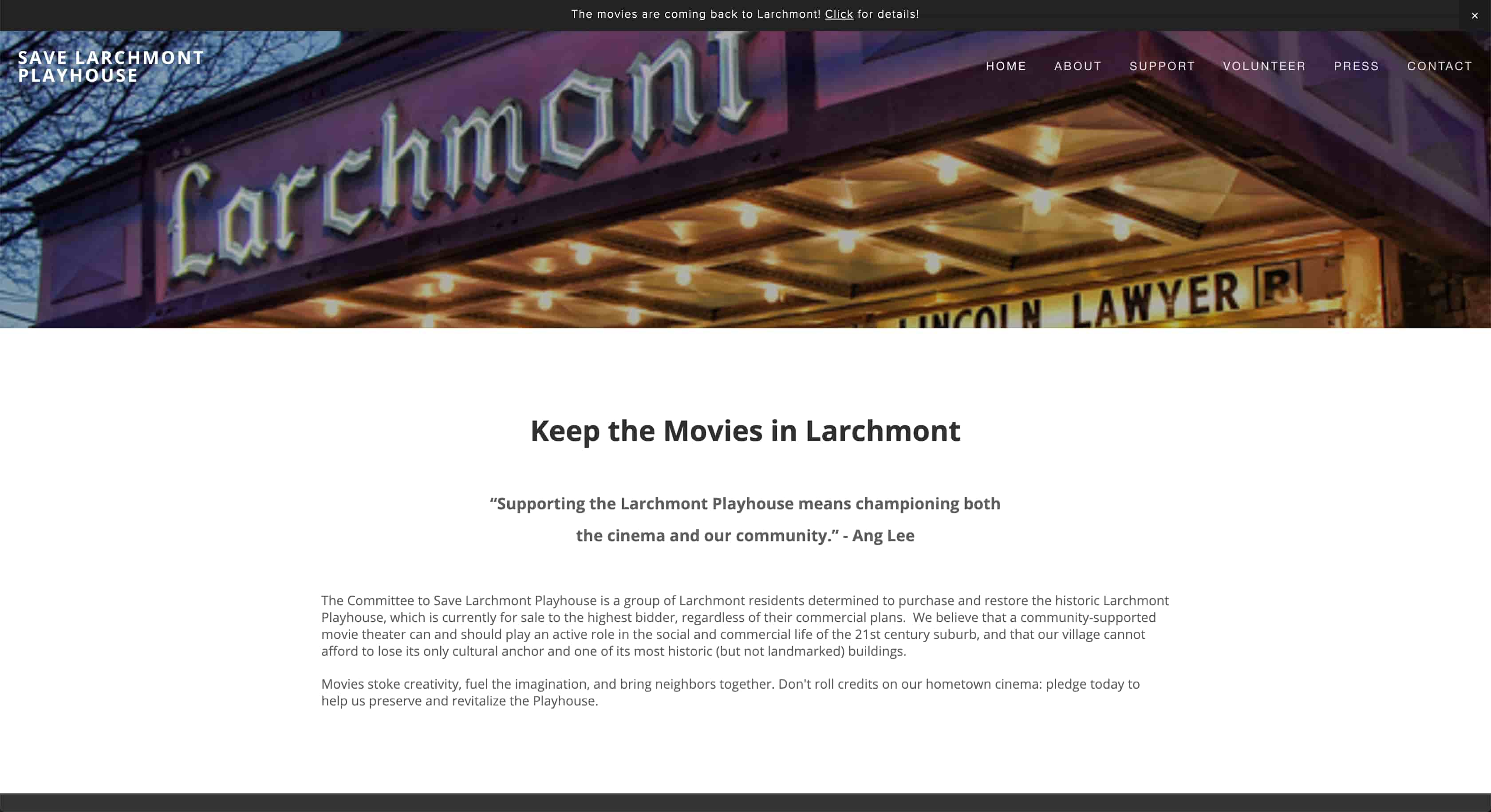 Larchmont Playhouse Homepage
