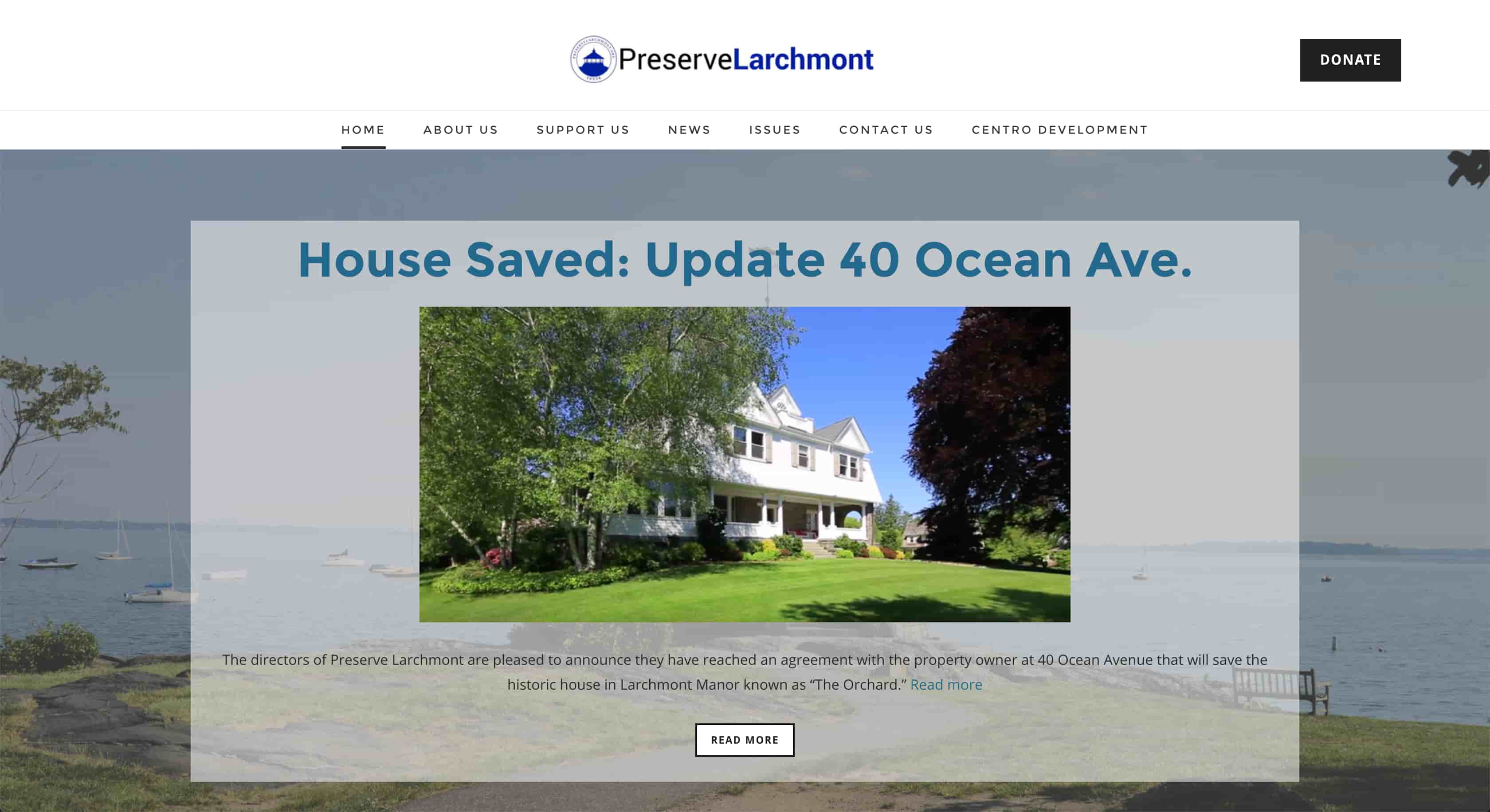 Preserve Larchmont Homepage
